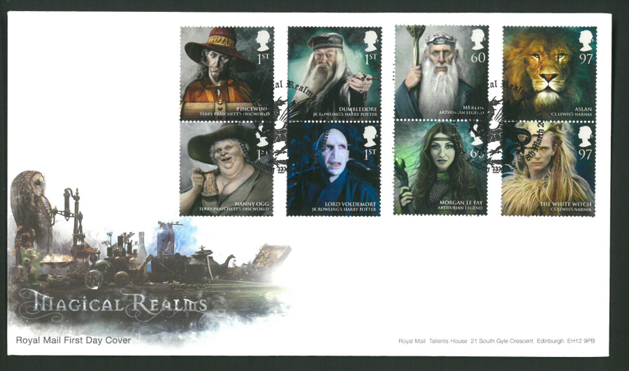 2011 Magical Realms Royal Mail First Day Cover - Merlin St London Postmark