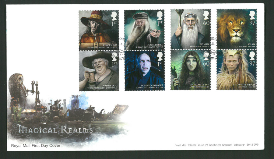 2011 Magical Realms Royal Mail First Day Cover - Glastonbury Postmark