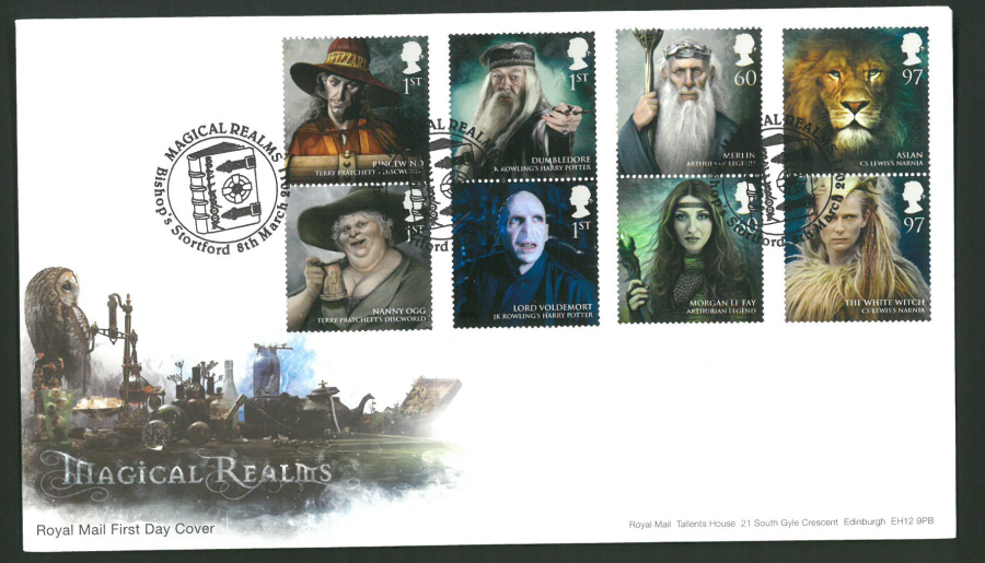 2011 Magical Realms Royal Mail First Day Cover - Bishop's Stortford Postmark - Click Image to Close