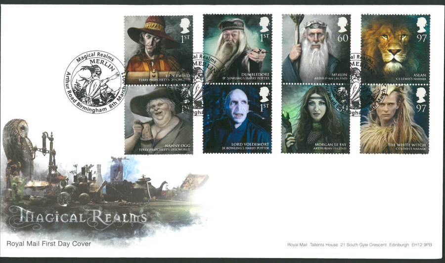 2011 Magical Realms Royal Mail First Day Cover - Arthur Rd Birmingham Postmark