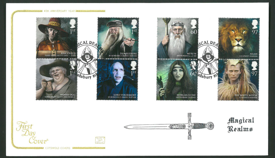 2011 Magical Realms Cotswold First Day Cover - Amesbury,Salisbury Different Postmark