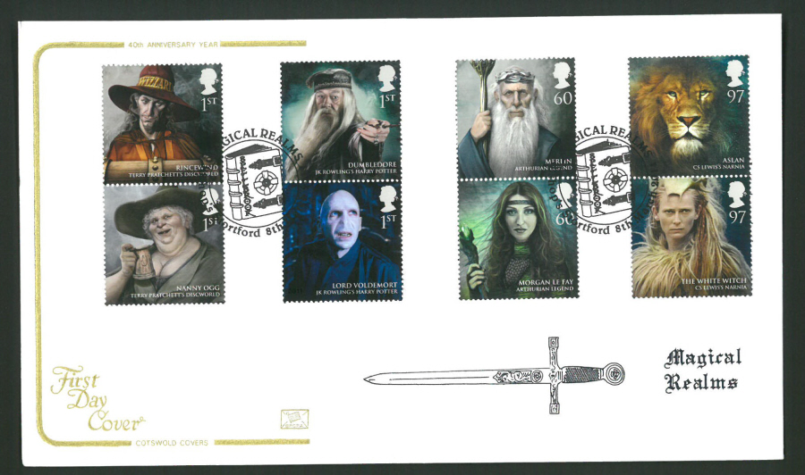2011 Magical Realms Cotswold First Day Cover - Bishop's Stortford Postmark