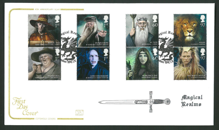2011 Magical Realms Cotswold First Day Cover - Merlin St London Postmark