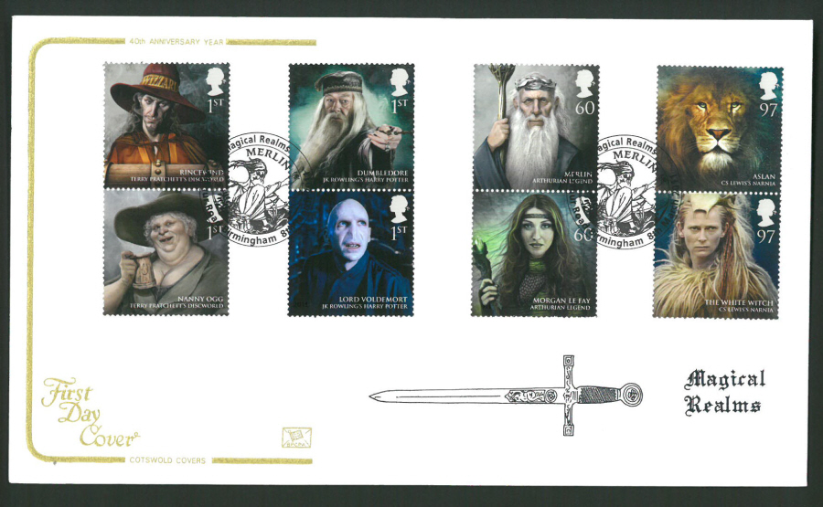 2011 Magical Realms Cotswold First Day Cover - Arthur Rd Birmingham Postmark