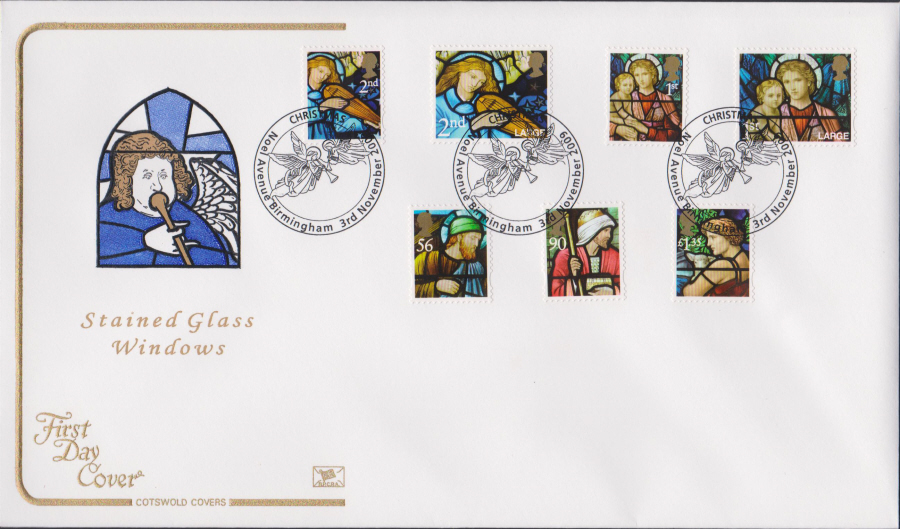 2009 - Christmas First Day Cover Set COTSWOLD - Noel Avenue, Birmingham Postmark