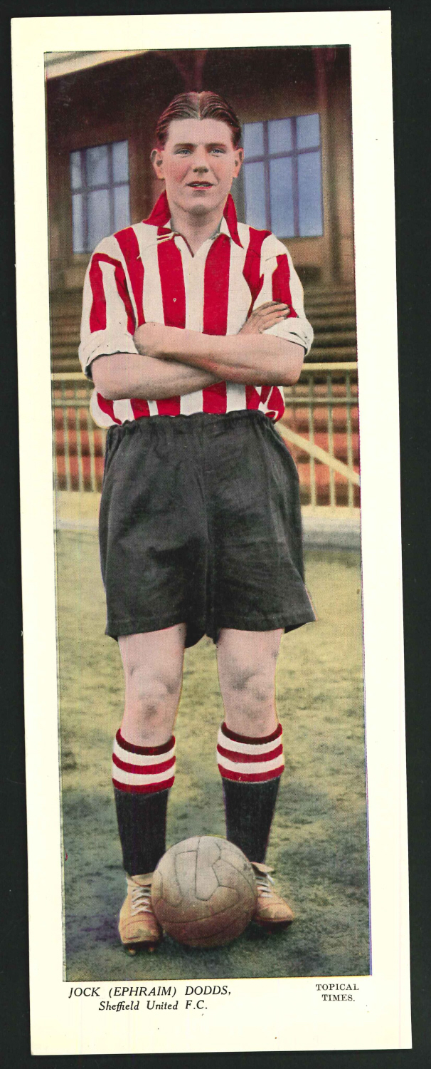Topical Times Large Coloured Jock ( Ephraim ) Dodds Sheffield United F C