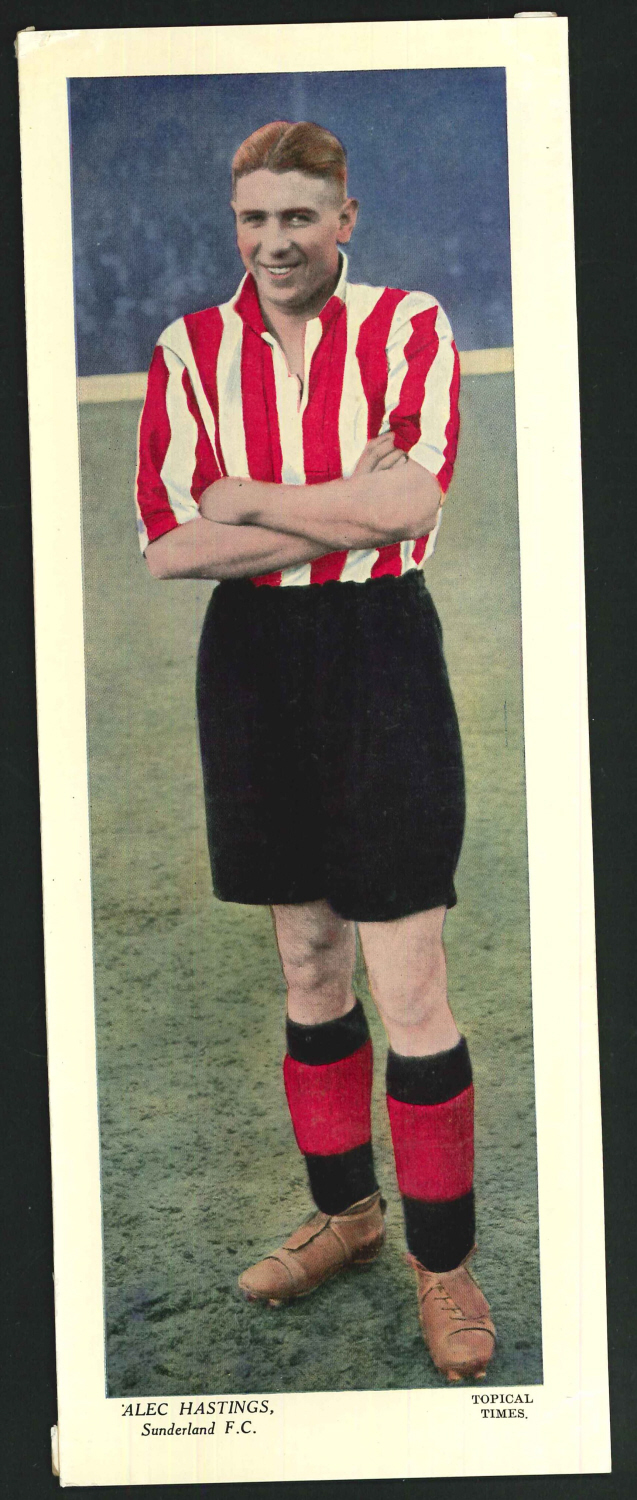 Topical Times Large Coloured- Alex Hastings Sunderland F C