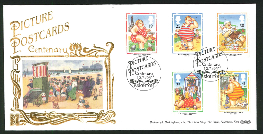 1994 - Benham Pictorial Postcards First Day Cover - Centenary, Brighton Postmark - Click Image to Close