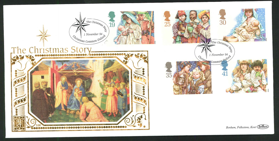 1994 - Christmas First Day Cover - Christmas Common Oxford Postmark