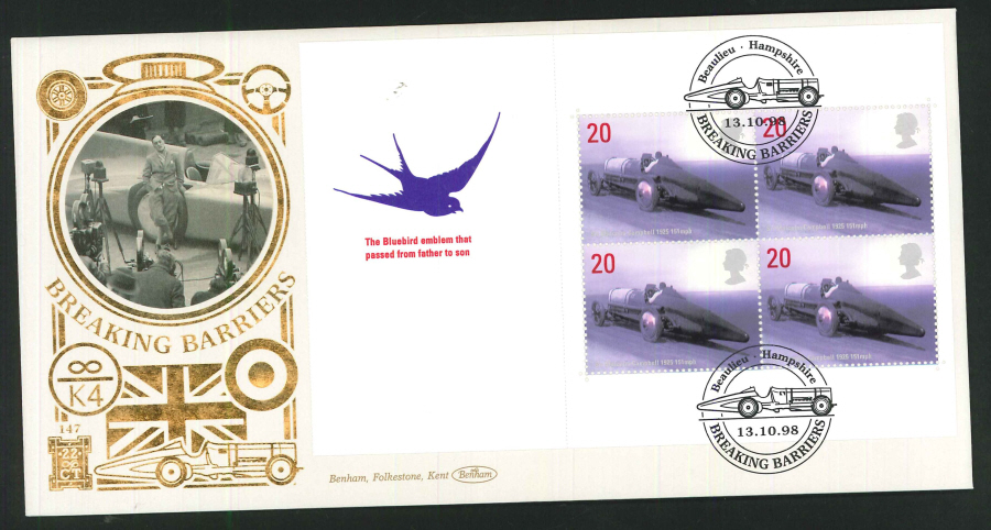 1998 - Breaking Barriers Commemorative Cover- Beaulieu Hampshire Postmark