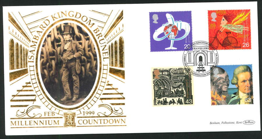 1999 - Travellers' Tale First Day Cover - Brunel, Paddington Station Postmark
