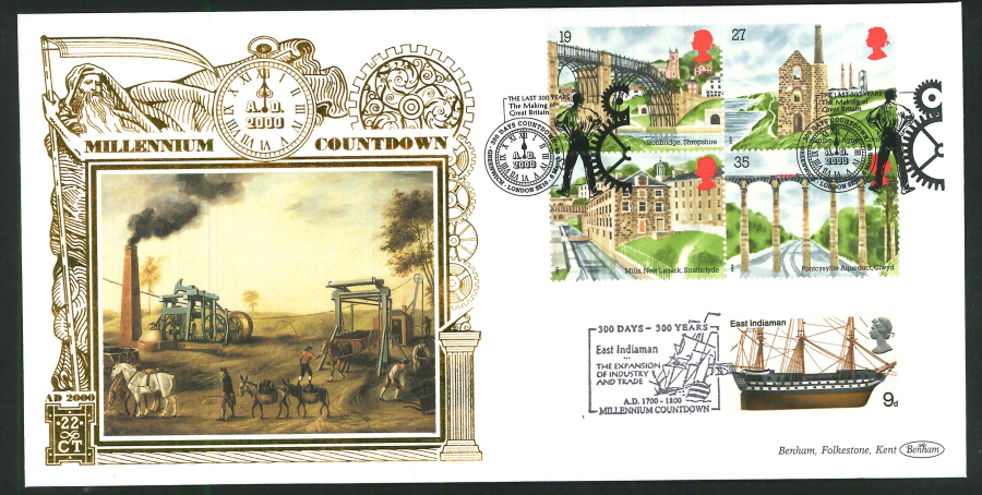 1998 -Millennium Countdown Commemorative Cover - 300 Days Countdown, Greenwich Postmark