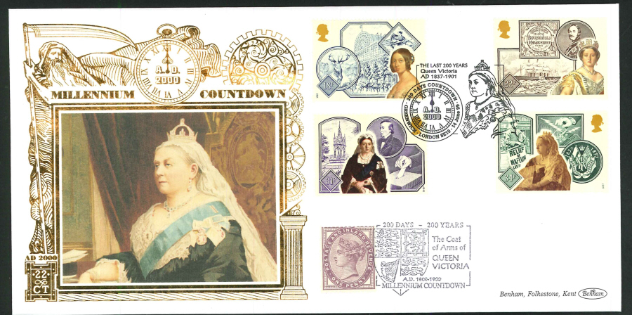 1998 -Millennium Countdown Commemorative Cover - 200 Days Countdown, Greenwich Postmark
