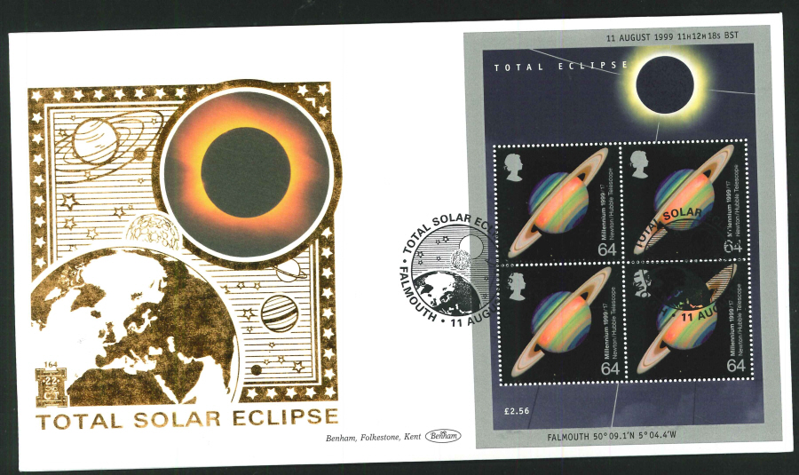 1999 - Total Solar Eclipse First Day Cover - Falmouth Postmark