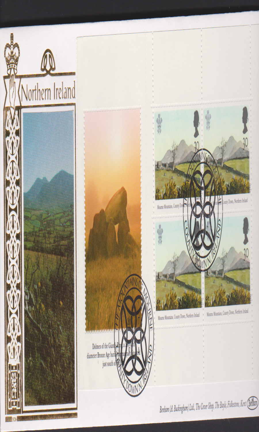 1994 - Benham National Trust First Day Cover - Mountains of Mourne Postmark