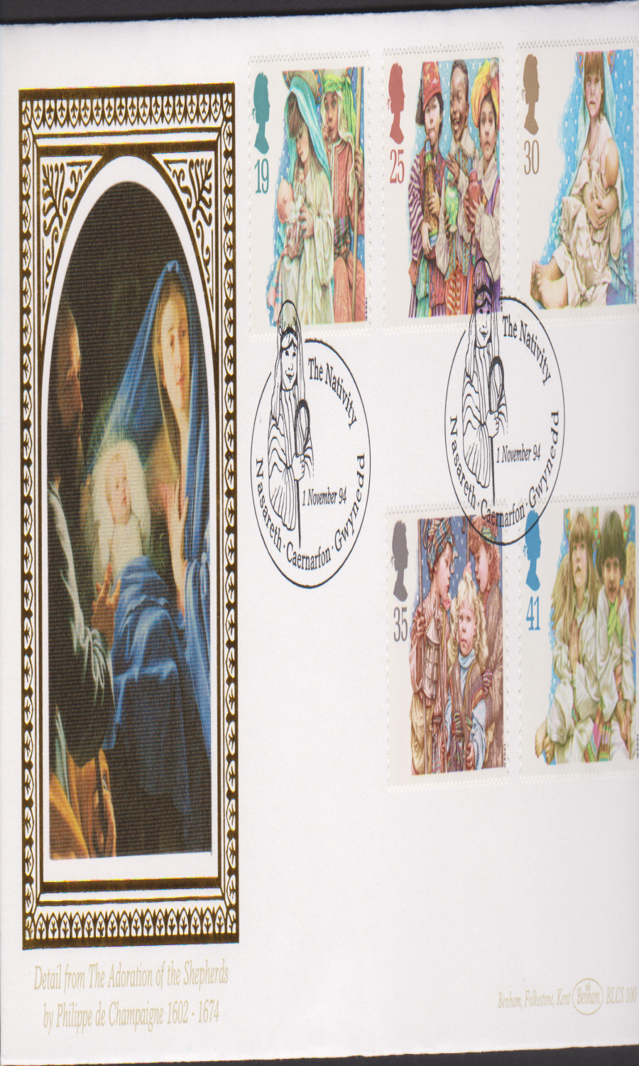 1994 - Benham Christmas First Day Cover - Nasareth Postmark