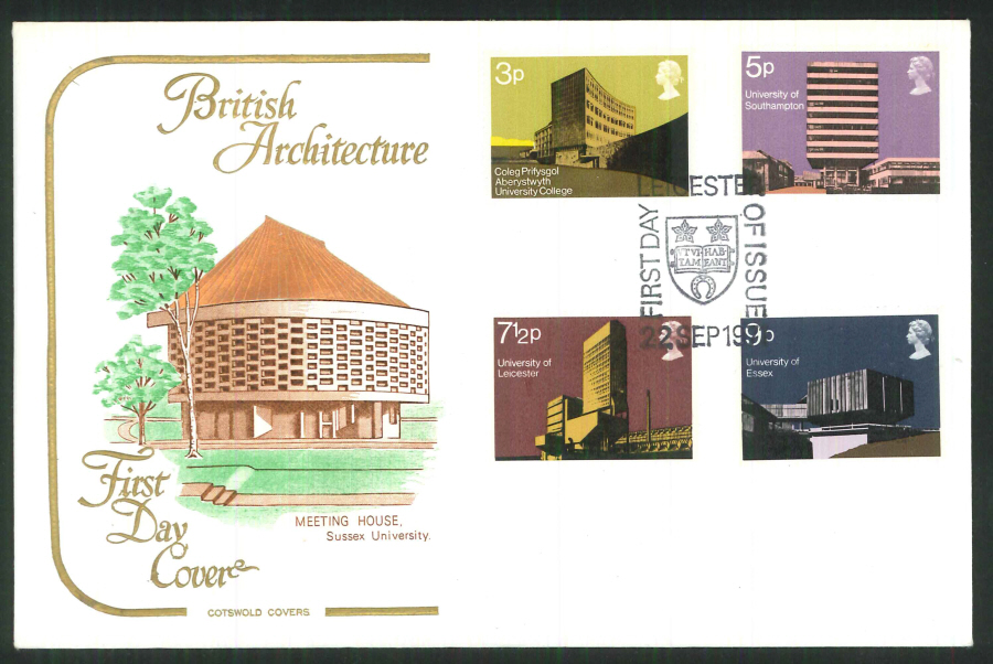 1971 Cotswold FDC Universities F D I Leicester Postmark