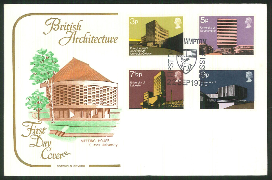 1971 Cotswold FDC Universities F D I Southampton Postmark