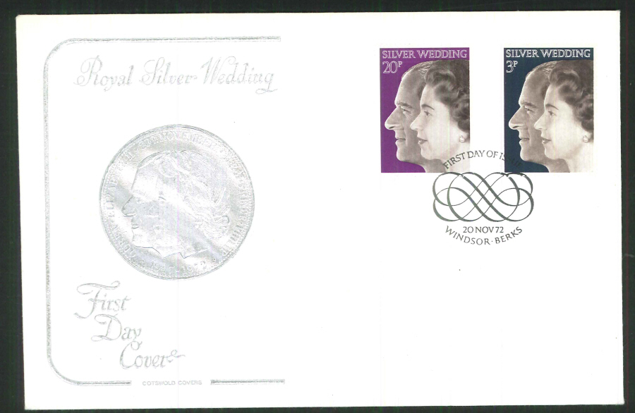 1972 Cotswold Silver Wedding FDC Windsor Postmark