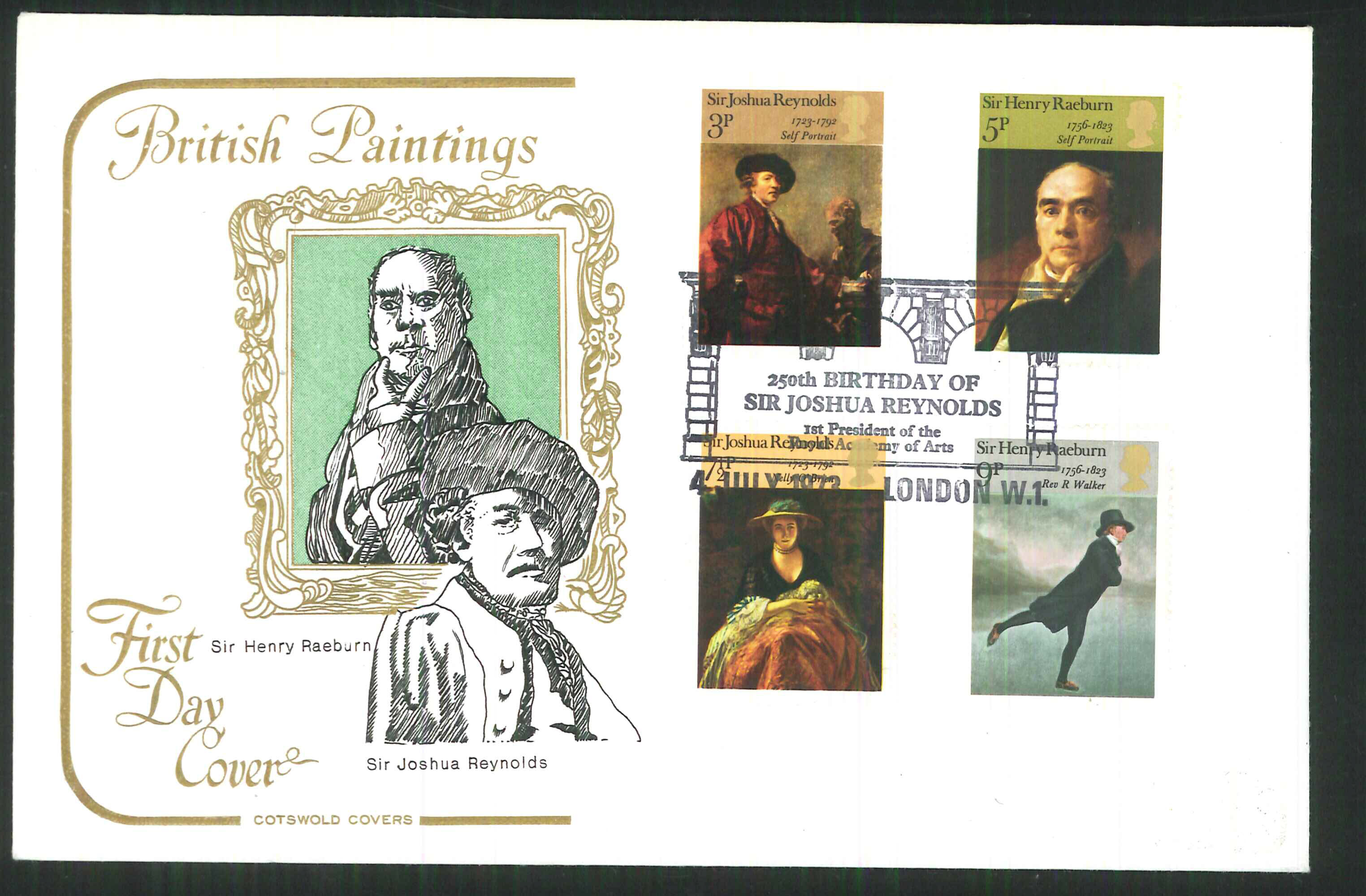1973 Cotswold Famous Painters FDC London W 1 Handstamp