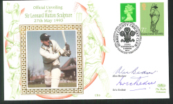1993 Signed Cricket Cover Autographed by Alec Bedser & Eric Bedser