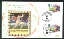1995 Cricket Cover Benson & Hedges Cup Series Michael Watkinson - Click Image to Close