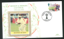 1995 Cricket Cover Benson & Hedges Cup Series Aravinda De Silva