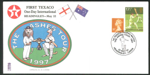 1997 E C B Cricket Cover First Texaco one Day