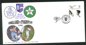 1996 E C B Cricket Cover 2nd Cornhill Test Match - Click Image to Close