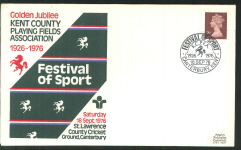 1976 Pilgrim Cricket Cover Festival of Sport St Lawrence Canterbury