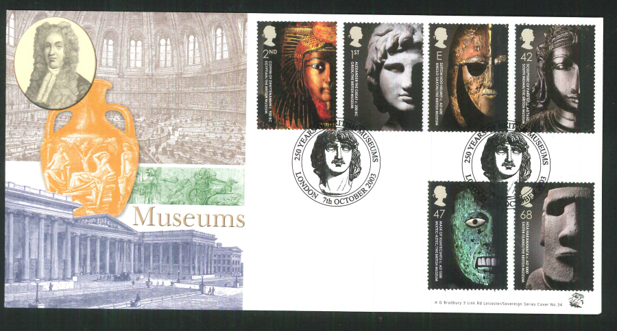 2003 Bradbury ( Sovereign No 34 )British Museum Postmark: London Special Handstamp