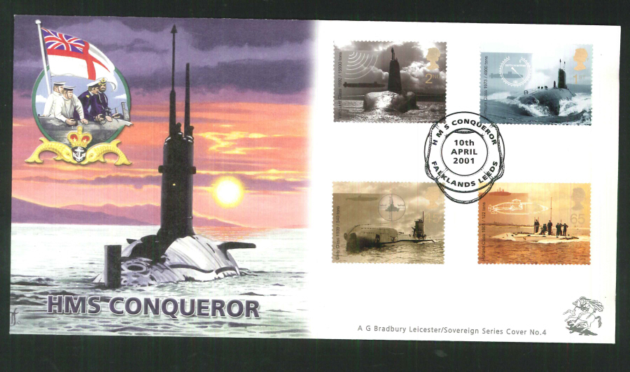 2001 Bradbury ( Sovereign No 4 ) Falklands Special Handstamp