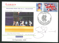 2005 Signed Lords Cricket Cover Autographed by Sean Ervine