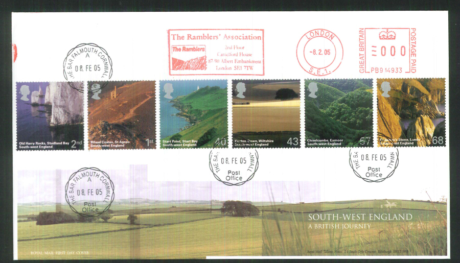 2005 South West England F D C Meter Mark Ramblers Assn + C D S