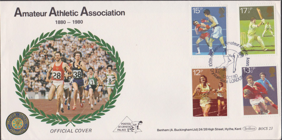 1980 Benham FDC Sporting Anniversaries Crystal Palace London Postmark