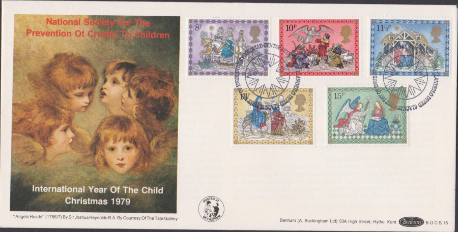 1979 Benham FDC Christmas BOCS15 First Day of Issue Bethlehem Postmark