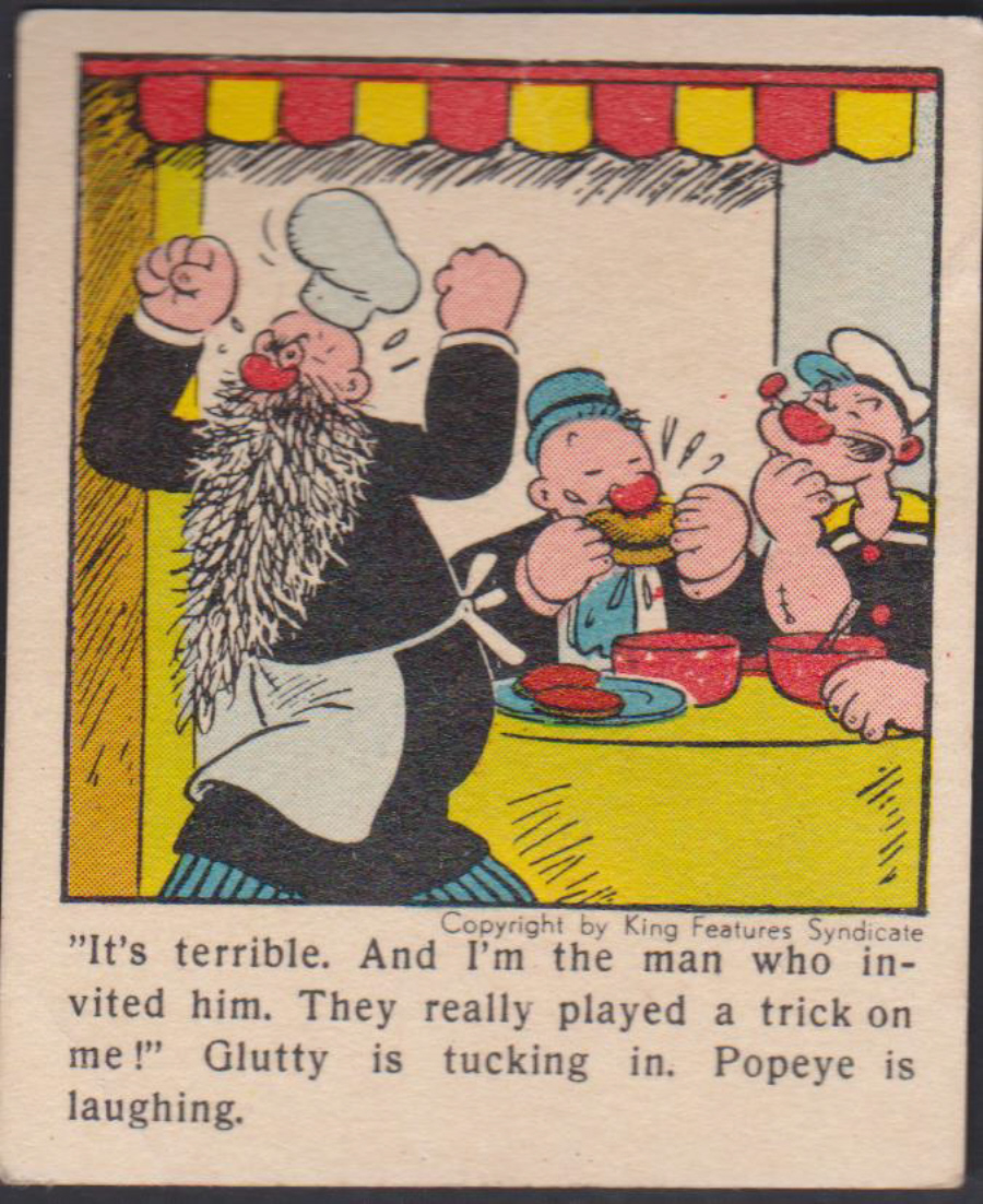 Klene Gum Popeye From 1954 No Series 5 No 12