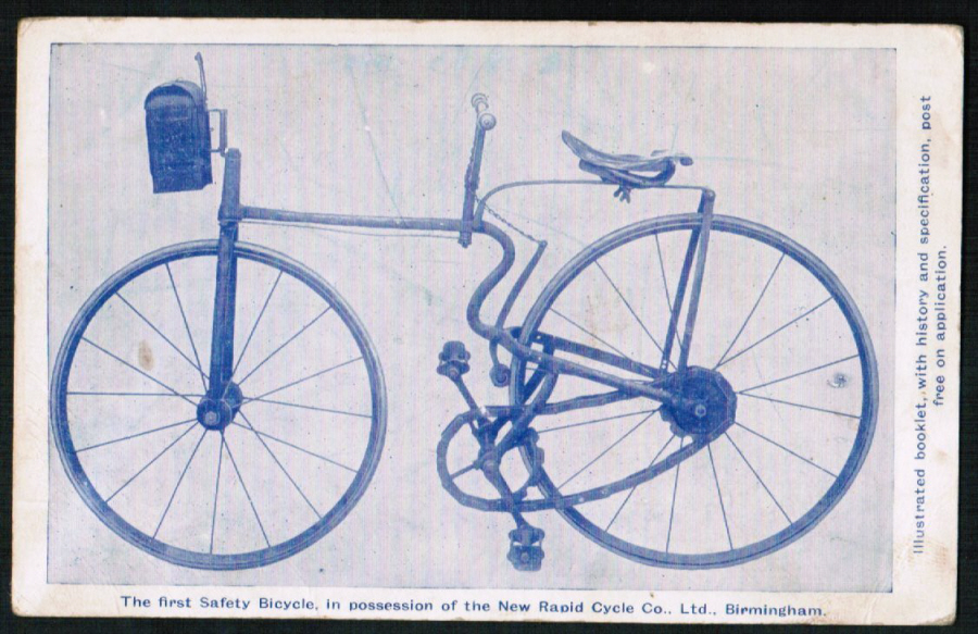 Postcard Advertising New Rapid Cycle Co Birmingham