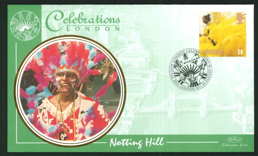1998 - Carnivals - Set of 4 First Day Covers - 4 Different London Postmarks