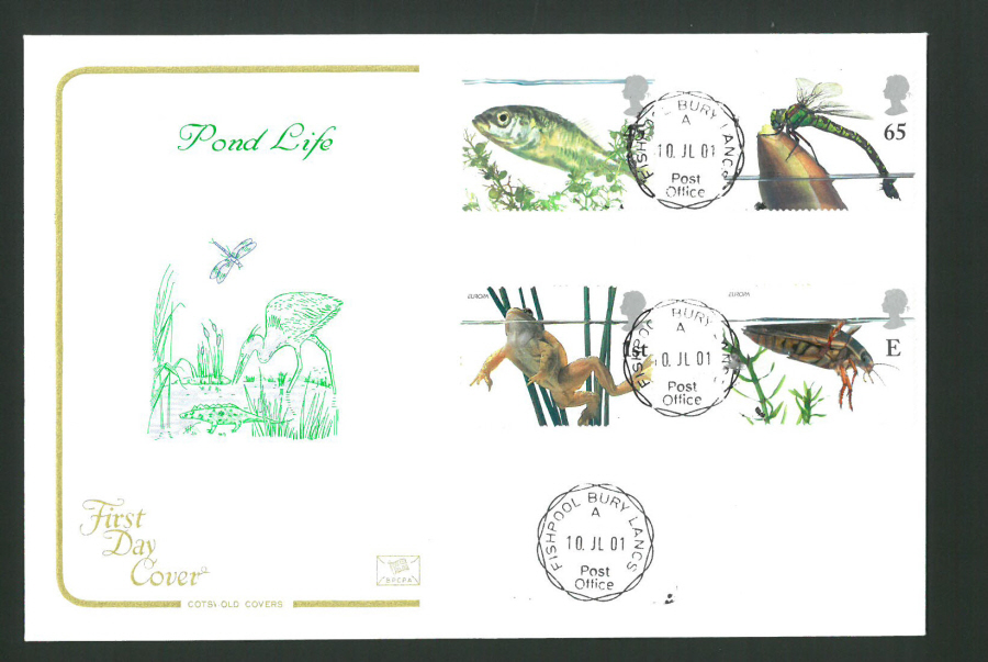 2001 - Cotswold Pond Life - FDC -Fishpool C D S Postmark