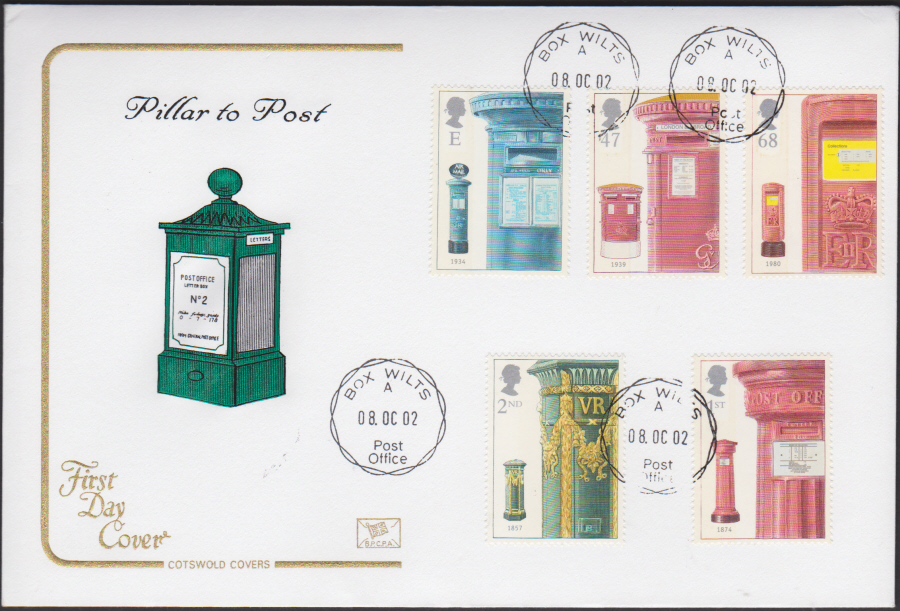 2002 - Cotswold - FDC -Box Wilts C D S Postmark