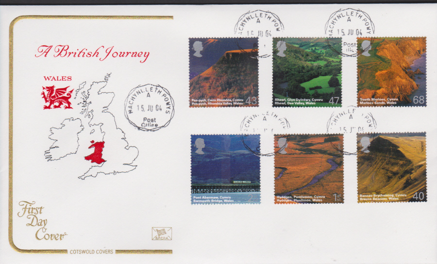 2004 - Cotswold Wales - FDC - Machynlleth,Powys C D S Postmark