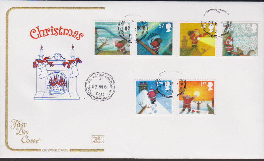 2004 - Cotswold Christmas - FDC - Noel Rd Acton London W3 C D S Postmark
