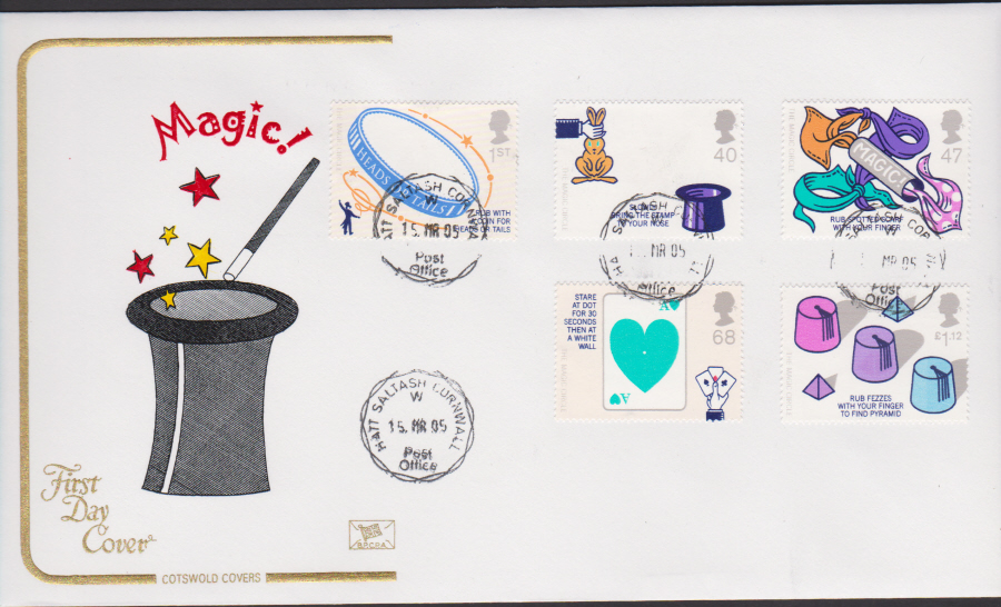 2005 - Cotswold Magic- FDC - Hatt,Saltash C D S Postmark