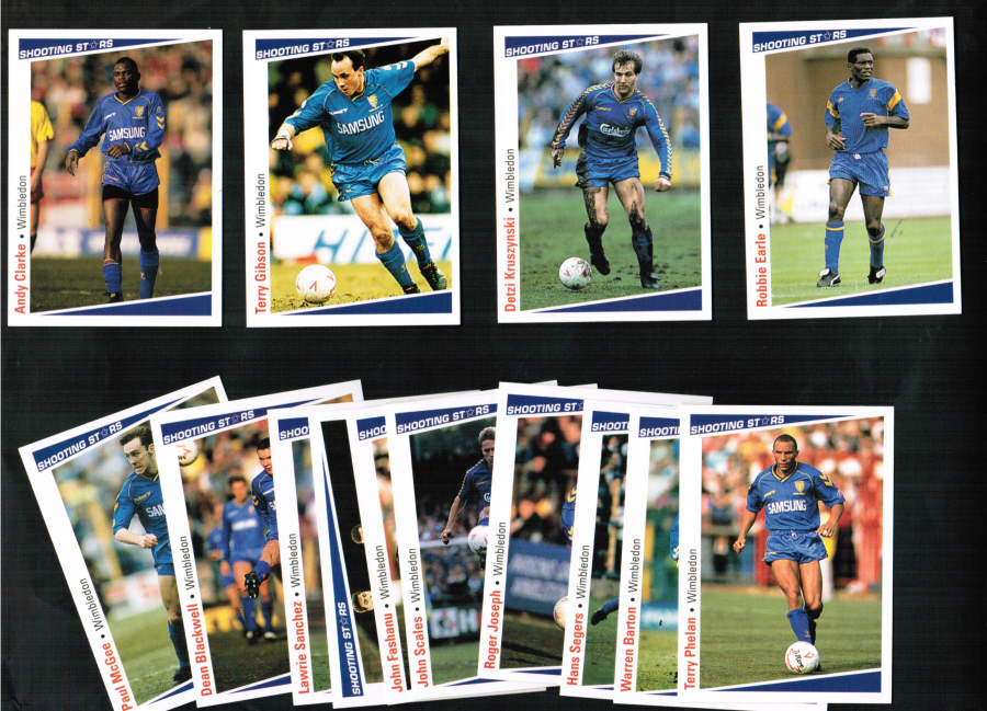 Wimbledon F C Football Cards 1991 Merlin Team Set