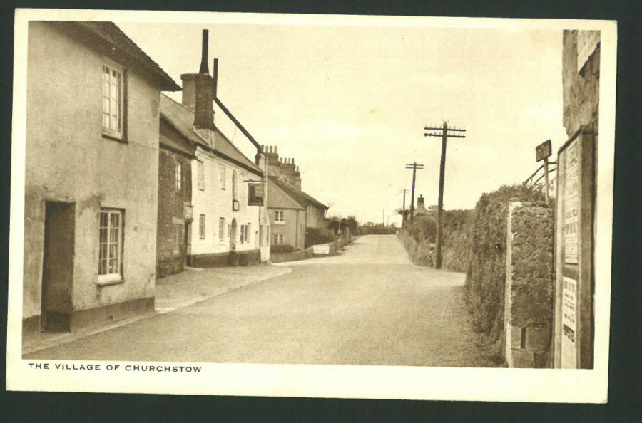 Postcard Devon - Village of Churchstow