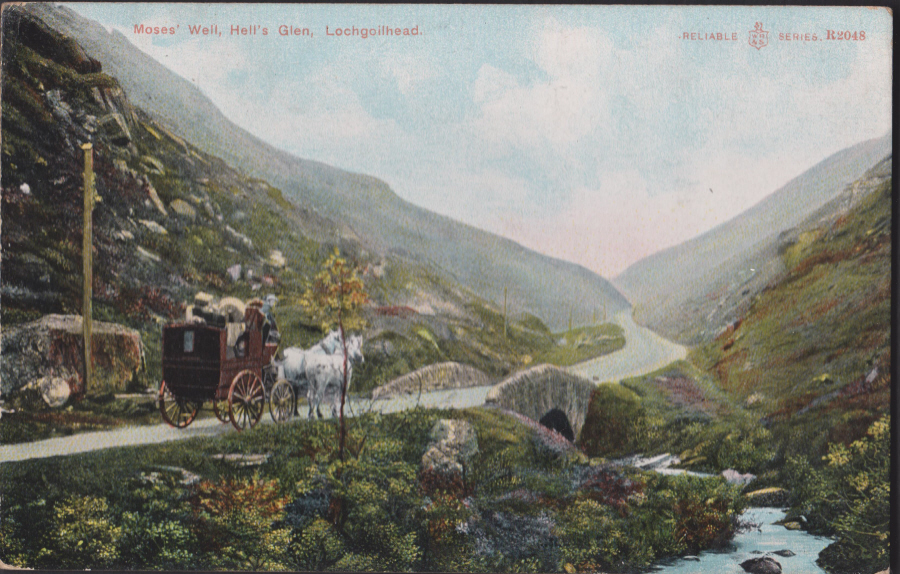 Postcard - Scotland- Moses Well,Hells Glen,Lochgoilhead