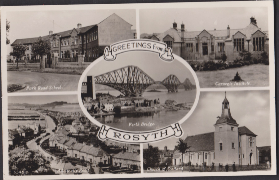 Postcard - Scotland- Greetings from Rosyth