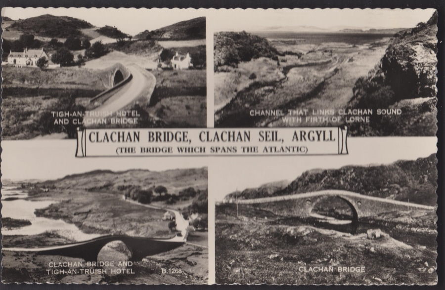 Postcard - Scotland- Multiview Clachan Bridge Arqyll