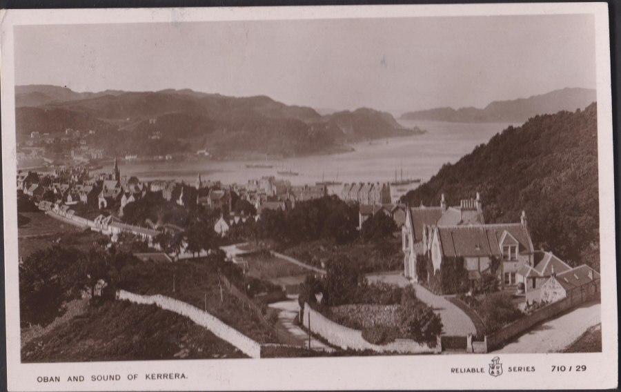 Postcard - Scotland-Oban and Sound of Kerrera Real Photo